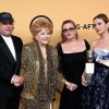 (L-R) Todd Fisher, actress Debbie Reynolds, recipient of the Screen Actors Guild Life Achievement Award, actresses Carrie Fisher and Billie Lourd