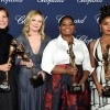 (L-R) Actresses Kimberly Quinn, Kirsten Dunst, Octavia Spencer and Janelle Monae pose with the Ensemble Performance Award.