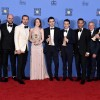 The cast and crew of 'La La Land,' winners of Best Motion Picture - Musical or Comedy